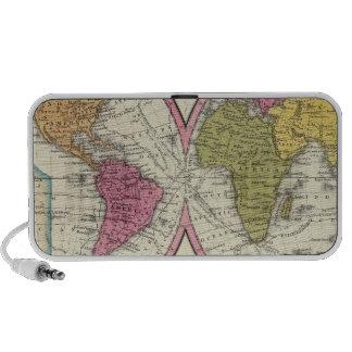 Un nuevo mapa del mundo en la proyección globular altavoz de viajar