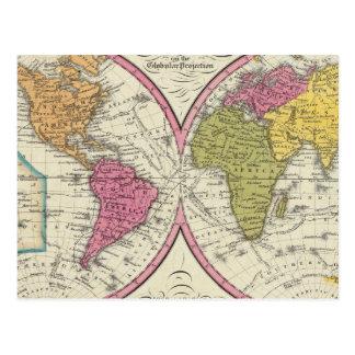 Un nuevo mapa del mundo en la proyección globular postal