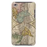 Un nuevo mapa del mundo entero con los vientos com iPod touch Case-Mate funda