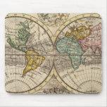 Un nuevo mapa del mundo entero con los vientos com tapete de ratón