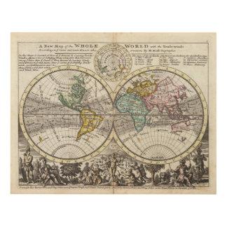 Un nuevo mapa del mundo entero con los vientos cuadro