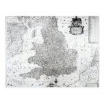 Un nuevo mapa del Reino de Inglaterra Postal