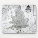 Un nuevo mapa del Reino de Inglaterra Alfombrillas De Ratón