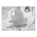 Un nuevo mapa del Reino de Inglaterra Felicitaciones