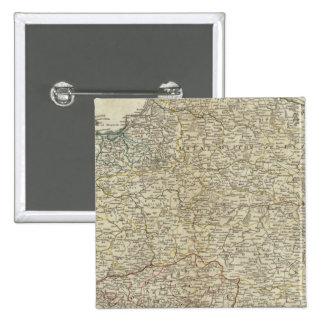 Un nuevo mapa del Reino de Polonia Pin Cuadrado
