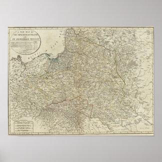 Un nuevo mapa del Reino de Polonia Póster