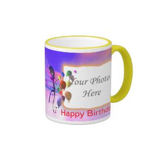 Un nuevo marco brillante del cumpleaños 2-Photo Taza De Dos Colores
