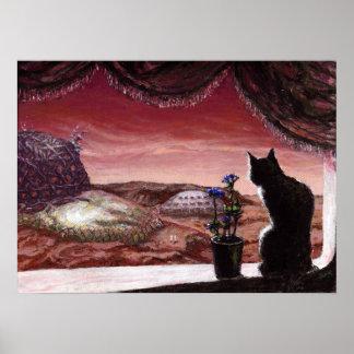 Un nuevo mundo entero - ciencia ficción - gato en  póster