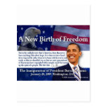 Un nuevo nacimiento de la libertad tarjeta postal