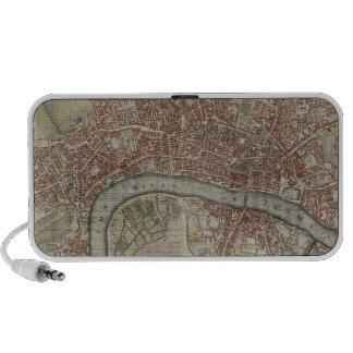 Un nuevo y exacto plan de las ciudades de Londres Altavoz De Viajar
