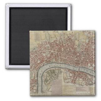 Un nuevo y exacto plan de las ciudades de Londres  Imanes