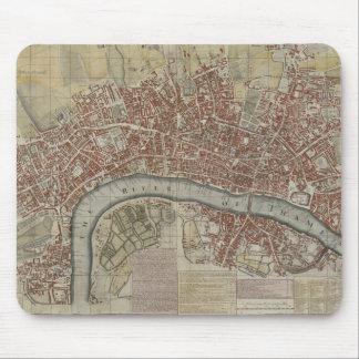 Un nuevo y exacto plan de las ciudades de Londres  Tapete De Ratón