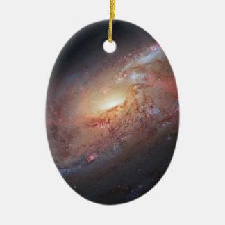 Un objeto más sucio 106 adorno navideño ovalado de cerámica