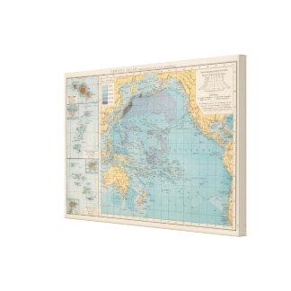 Un océano más grueso impresión en tela