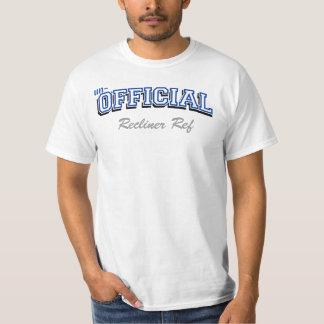 Un-Official Recliner ref (1) Blue text T-Shirt
