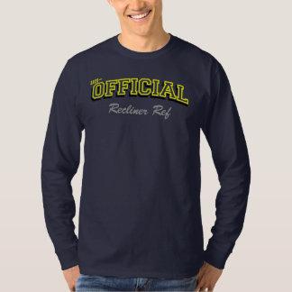 Un-Official Recliner ref (1) Yellow text T-Shirt