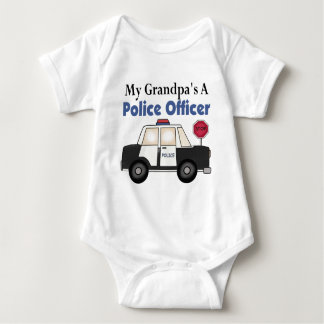 Un oficial de policía del abuelo body para bebé