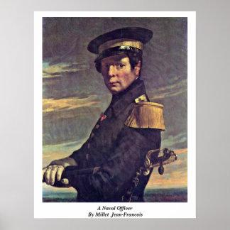 Un oficial naval por el mijo (ii) Jean-Francois Póster