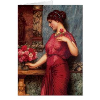 Un ofrecimiento a la pintura al óleo de Venus Tarjeta De Felicitación