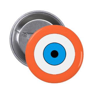 Un ojo azul pin redondo de 2 pulgadas