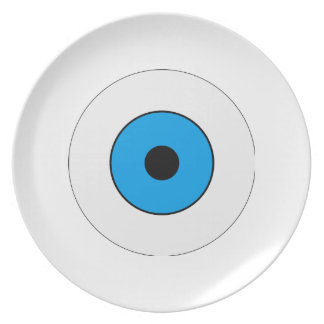 Un ojo azul plato