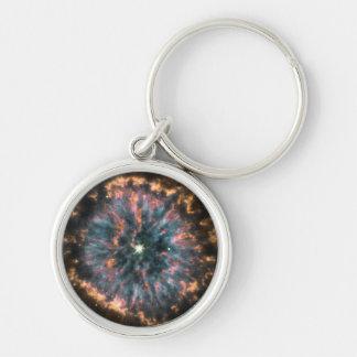 Un ojo celestial que brilla intensamente, conocido llaveros personalizados