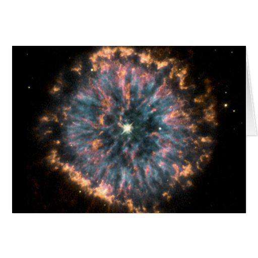 Un ojo celestial que brilla intensamente, conocido tarjeton