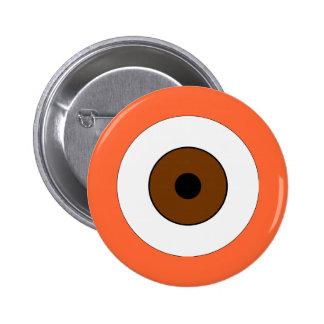 Un ojo de Brown Pin Redondo De 2 Pulgadas