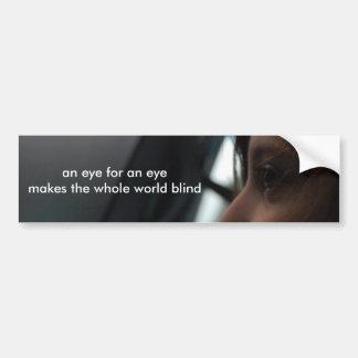 un ojo para un ojo hace las persianas enteras del  pegatina de parachoque