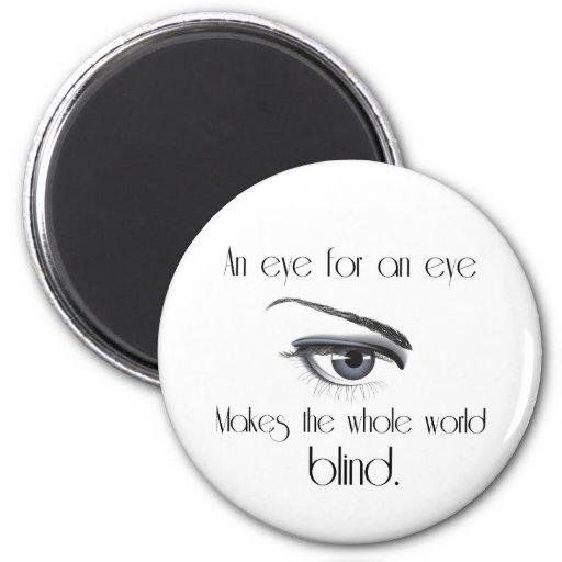 Un ojo para un ojo hace las persianas enteras del imán redondo 5 cm