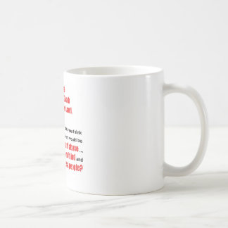 Un ojo para un ojo taza de café