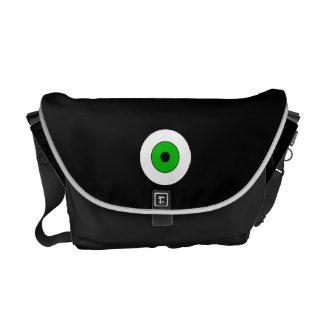 Un ojo verde bolsas de mensajeria