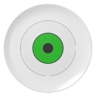 Un ojo verde plato