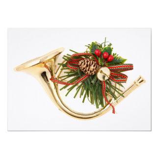 """Un ornamento del navidad del instrumento musical invitación 5"""" x 7"""""""