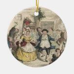 Un ornamento del villancico del navidad adornos de navidad