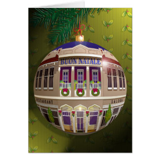 Un Ornamento di Buon Natale-Verde Greeting Card