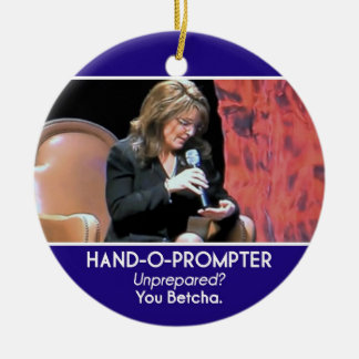 Un ornamento Mano-o-Más pronto de Sarah Palin Ornamento Para Reyes Magos