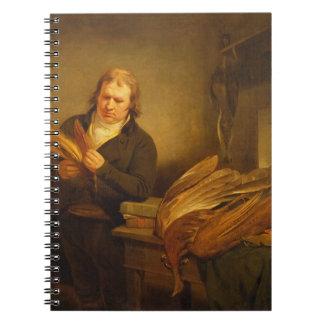 Un ornitólogo, probablemente Sr. Thomson, animal y Libros De Apuntes Con Espiral