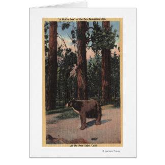 Un oso de Brown en las maderas Felicitaciones