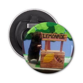 ¡Un oso en el puesto de limonadas! Abrebotellas Redondo