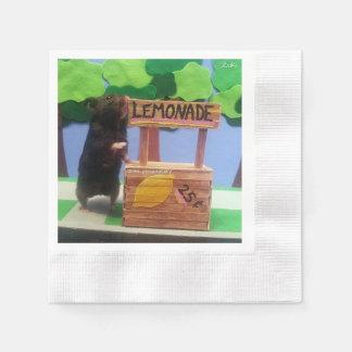 ¡Un oso en el puesto de limonadas! Servilletas De Papel