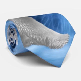 Un oso polar en la cascada congelada corbatas personalizadas