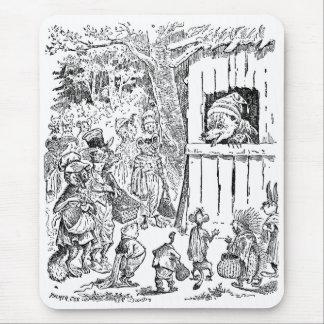 Un oso tiene muchos visitantes tapete de ratones