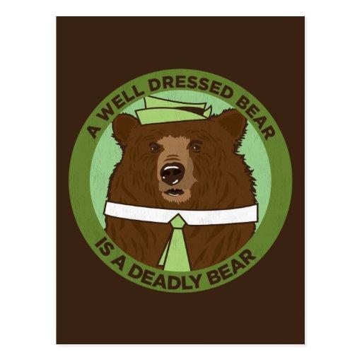 Un oso vestido pozo es un oso mortal postales