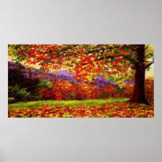Un otoño brumoso de Nueva Inglaterra Poster