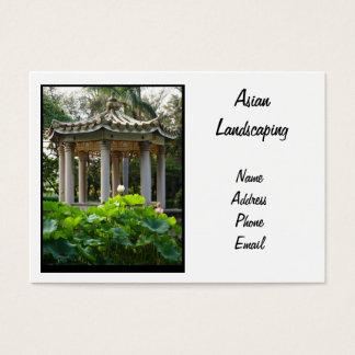 Un pabellón chino en medio de una charca de Lotus Tarjetas De Visita Grandes