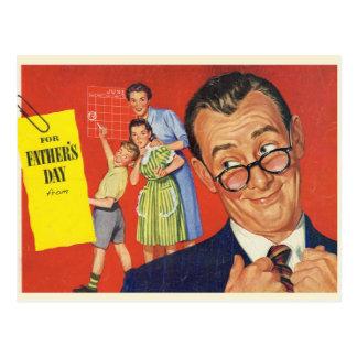 Un padre del vintage tarjeta postal