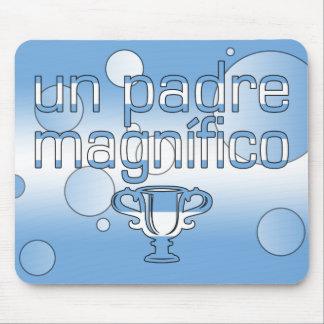 Un Padre Magnífico Argentina Flag Colors Pop Art Mouse Pad