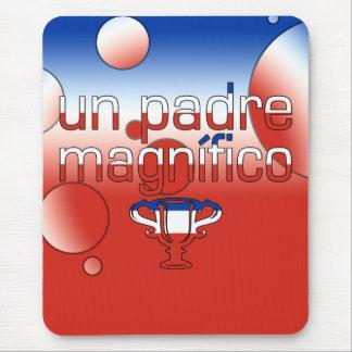 Un Padre Magnífico Chile Flag Colors Pop Art Mouse Pad