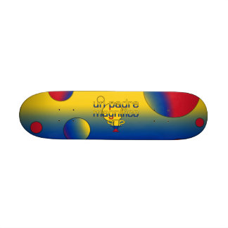 Un Padre Magnífico Colombia Flag Colors Pop Art Skate Board Deck